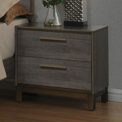 Manvel Contemporary Style Night Stand, Antique Gray