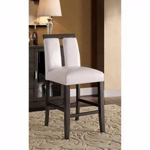 Luminar II Contemporary Counter Height Chair , Gray Finish, Set Of 2