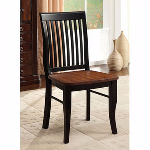 Earlham Cottage Side Chair, Antique Oak, Black, Set Of 2