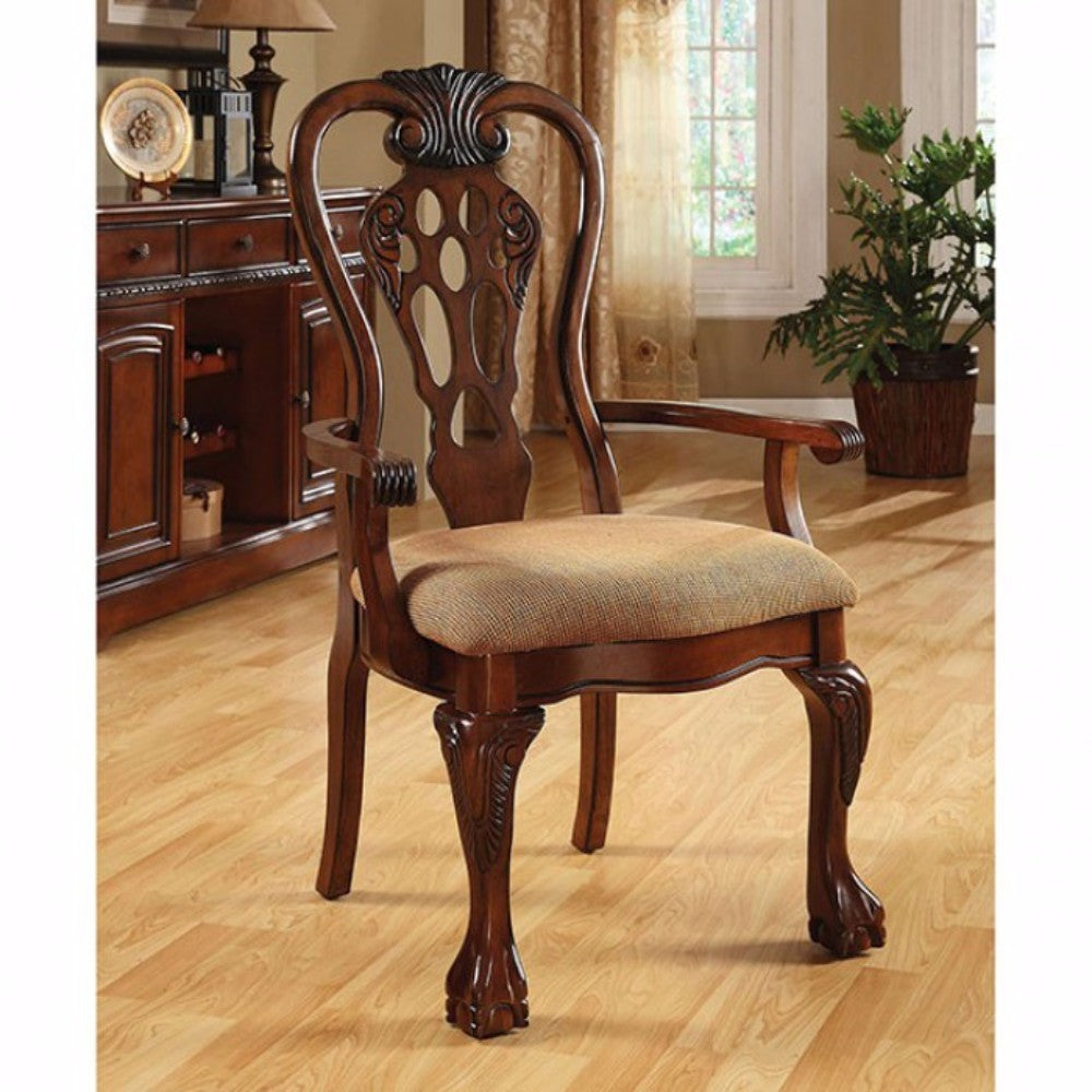 George Town Traditional George Town Arm Chair, Set Of 2, Cherry Finish