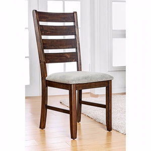 Wallis Transitional Side Chair, Walnut Finish, Set Of 2