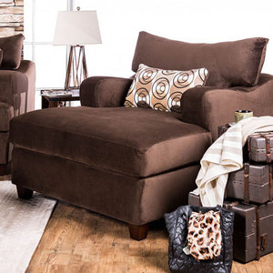 Wessington Transitional Chair & A Half, Chocolate