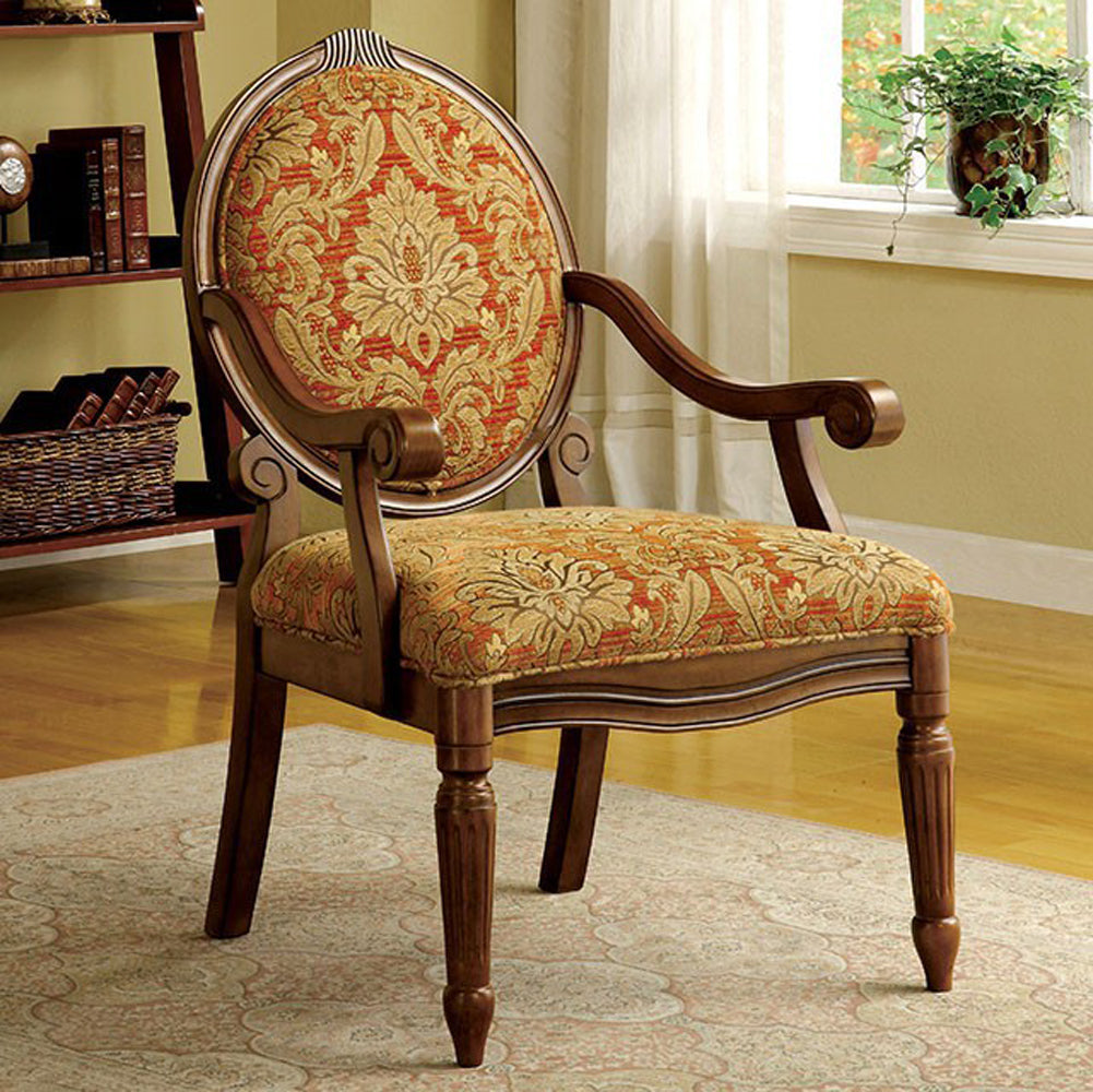 Hammond Traditional Hammond Accent Chair, Antique Oak Finish