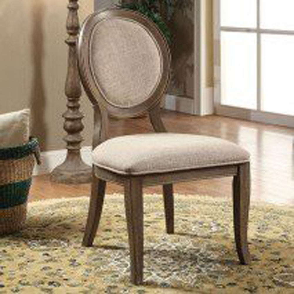 Siobhan Transitional Side Chair, Gray Finish, Set Of 2