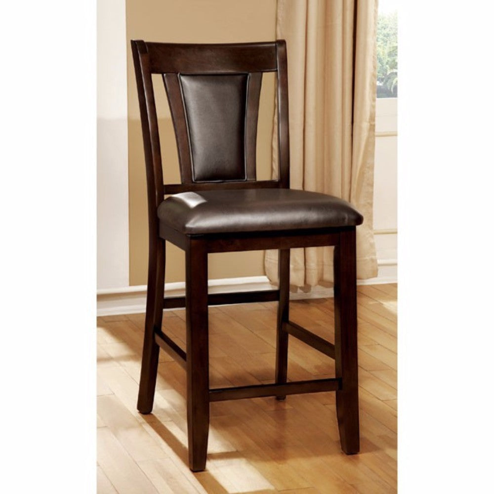 Brent II Contemporary Counter Height Chair, Dark Cherry, Set Of 2