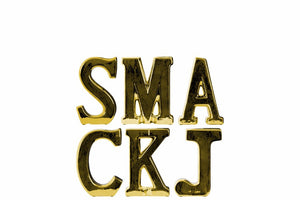 "Alphabet Decor Letter ""SMACKJ"" Assortment of 6- Small- Gold- Benzara"