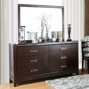 Winnifred Contemporary Style Dresser, Cherry Finish
