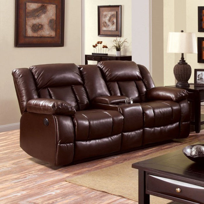 Wimbledon Motion Love Seat Comfy Couch Recliners, Brown