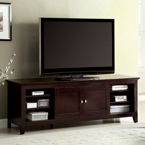 "Maris 72"" Tv Console Contemporary Style, Dark Cherry Finish"