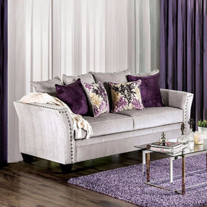 Oliviera Stylish Sofa Transitional Style In Gray