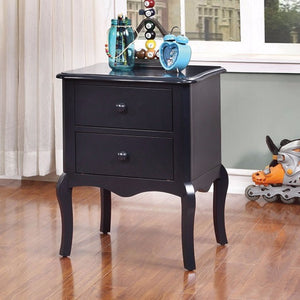 Lexie Rattling Spacious Night Stand, Traditional Style, Blue