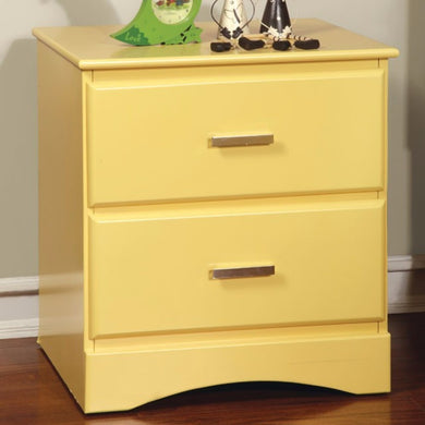 Prismo Night Stand, Transitional Style, Yellow