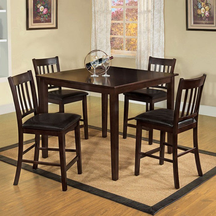 Northvale II Counter Height 5Pc Table Set, Espresso Finish