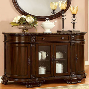 Bellagio Transitional Style Server Brown Cherry
