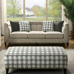 Kristi Transitional Style Relaxing Sofa, Brown