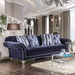 Classy And Charming Sofa, Dark Blue