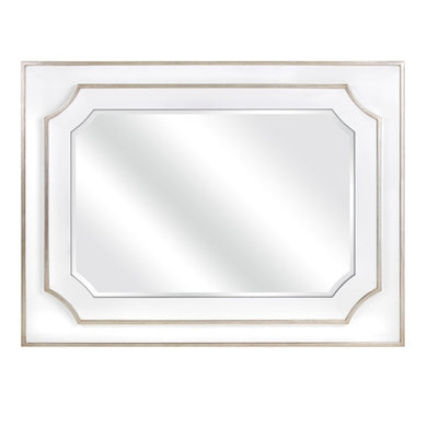 Talitha Wall Mirror - White - Benzara