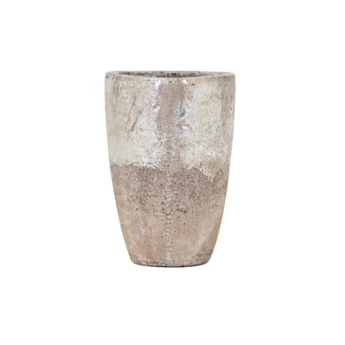 Tala Small Vase - Silver and beige - Benzara