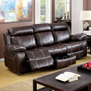 Chancellor Sofa With Contrast Stitching, Brown