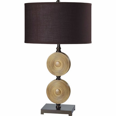 Suzy Traditional Table Lamp in Light Carmel and Espresso
