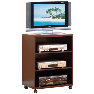 Splendid TV Stand / Printer Stand With Casters, Brown