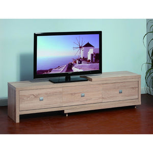 TV Stand With Three Storage Drawers, Brown
