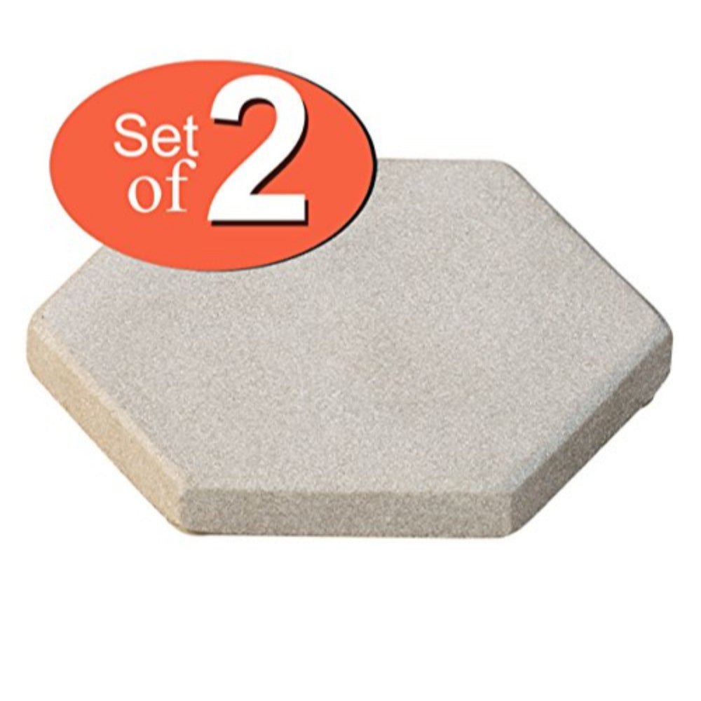 Absorbent Sandstone Drink Coasters Set of 2-Hexagonal Handmade Stone Beverage Coaster