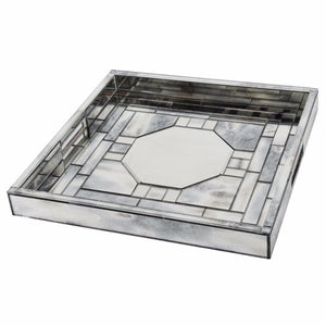 Geometric Pattern Square Tray With Efficient Space