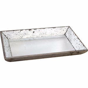 Waverly Mirrored Distressed Glass Tray