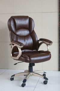 Barton Office Chair with Pneumatic Lift, Brown