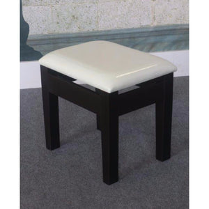 Comforting Dressing Stool, White & Black