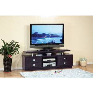 Modern Style TV Stand With 4 Drawers And 2 Open Shelves.