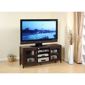 Contemporary style TV Stand With 3 Open Shelves.