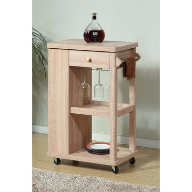 Stylish Kitchen Cart With 2 Wine Glass Racks & 1 Drawer.