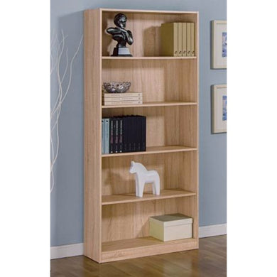 Contemporary Design Bookcase With 5 Tier Shelves.