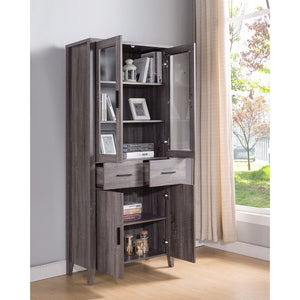 Eye- Catching Adorning Book Cabinet, Gray