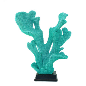 Beautiful Resin Coral Sculpture, Blue