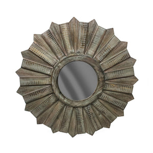 Well-Designed Wood Mirror ,Brown