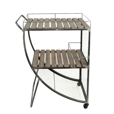 Splendid Metal & Wood Tea Cart, Brown