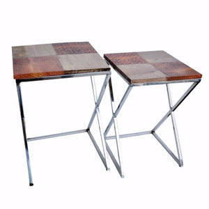 Courtly Elegant Set of 2 Side Tables