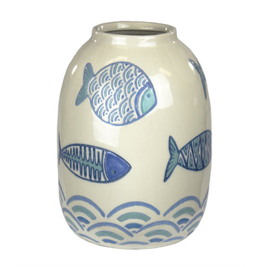 Mesmerising Ceramic Vase With Fish Design