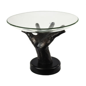 Enigmatic Glass Bowl On Hand Stand