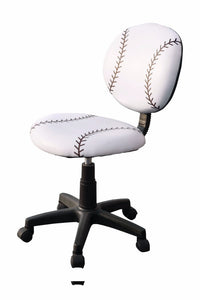 All Star Youth Office Chair With Pneumatic Lift, Baseball: White
