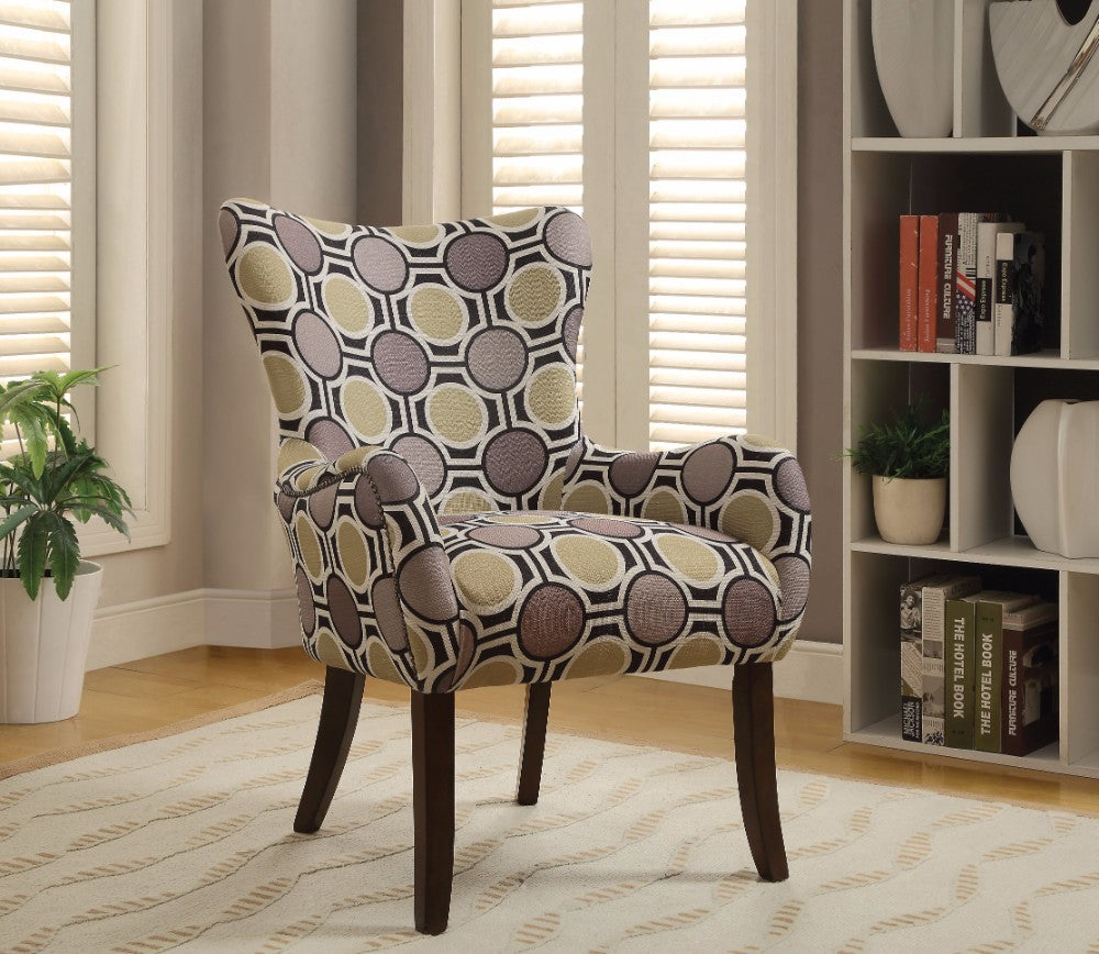 Gabir Accent Chair, Modish Fabric Print