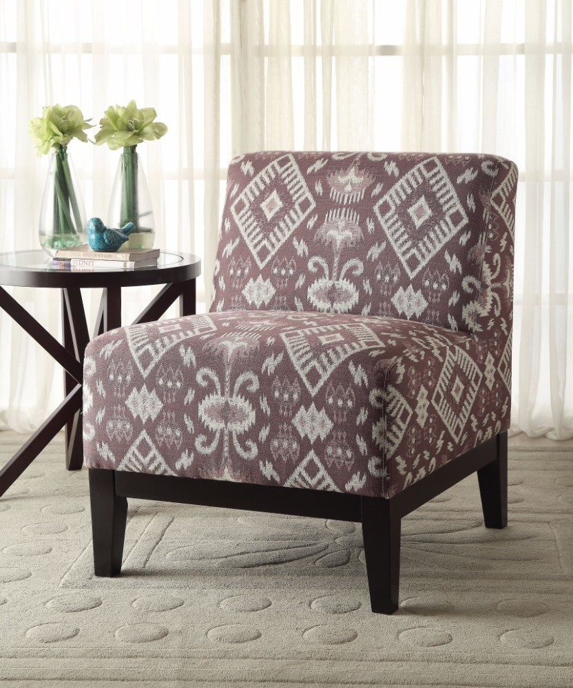 Hinte Accent Chair, Multicolor Pattern Fabric