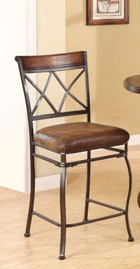 Tavio Counter Height Chair, Brown, Set of 2