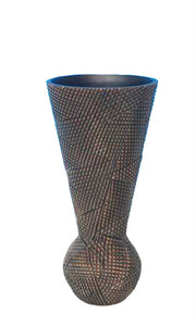 Uniquely Designed Resin Vase, Brown
