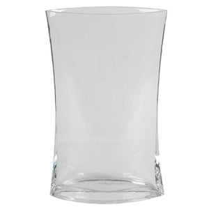 Tall Minimal Glass Vase, Clear