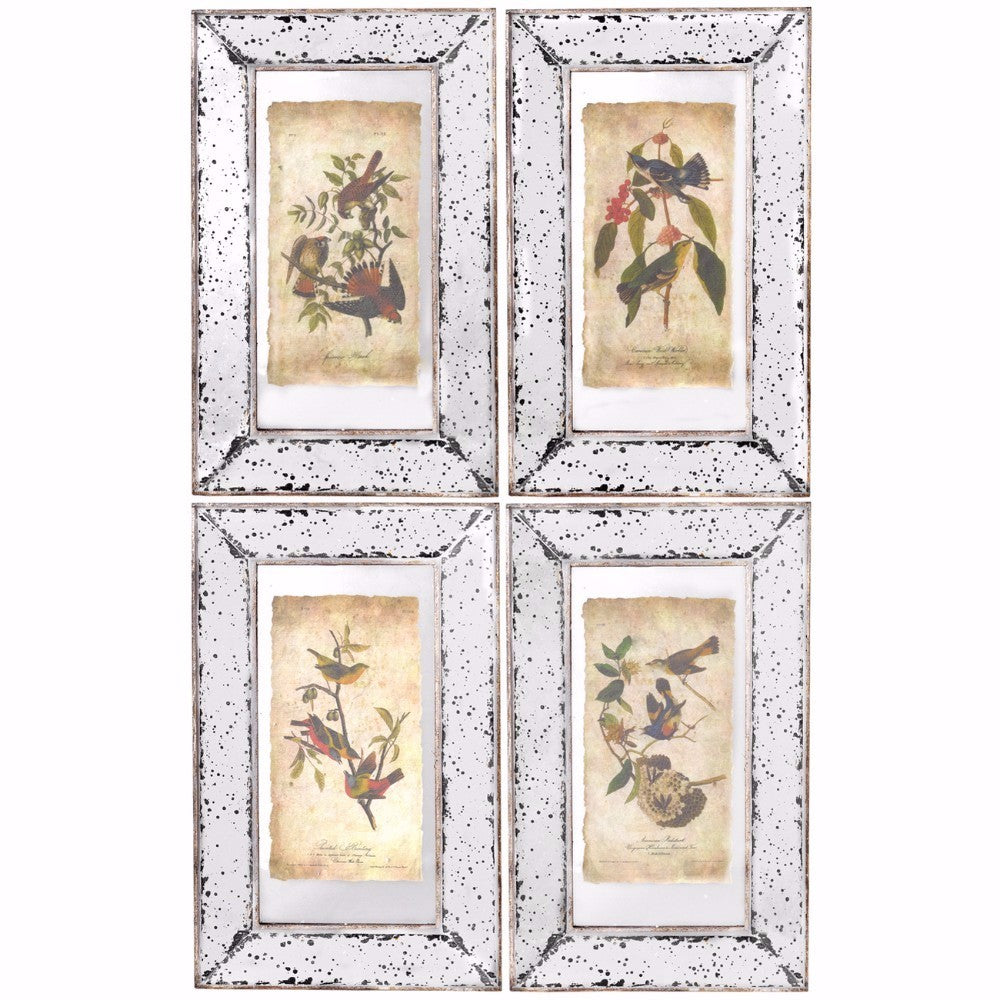 Beauty Vertiline Framed Countryside Prints- Set of 4