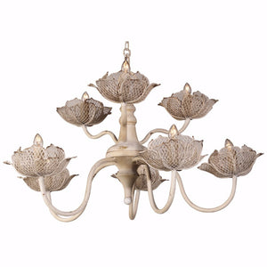 Sophisticated Charmed 6- Light Chandelier, White